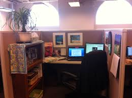 small office cubicle small. Amazing Design Of The Small Office Areas With Brown Wooden Wall And Cabinets Ideas Cubicle