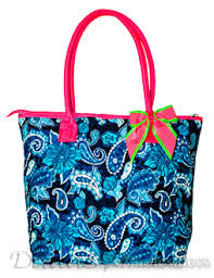 Navy Blue Pink Paisley Wholesale Quilted Tote Bag ... & Navy Blue Pink Paisley Wholesale Quilted Tote Bag Adamdwight.com