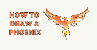 Drawings Of Phoenix How To Draw A Phoenix Really Easy Drawing Tutorial