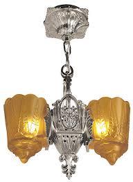 art deco hanging lights pendants two in