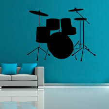 >drum set vinyl wall art shop drum set vinyl wall art zoom