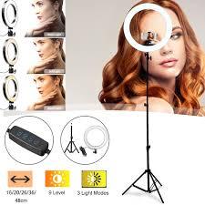 Soft Selfie Light Us 9 52 40 Off 16 20 26 36 48cm Photography Led Selfie Ring Light Camera Phone Ring Lamp Video Live Studio Light For Makeup Video Live Studio In