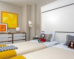 mid century modern kids bedroom. Inspiration For A Midcentury Modern Kids\u0027 Room Remodel In New York With Beige Walls Mid Century Kids Bedroom T