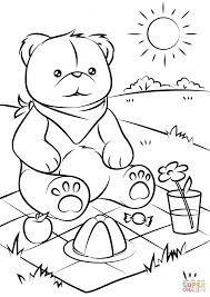 Small Picture Teddy Bear Coloring Pages Teddy Bear Coloring Page Free Printable