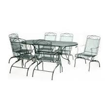green wrought iron 7 piece action patio dining set. green wrought iron 7-piece action patio dining set-w3929-a-7gr 7 piece set pinterest