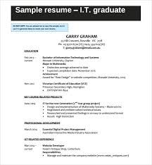 Sample It Cv Template 7 Free Documents Download In Word Pdf