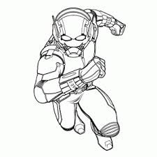 Small Picture Ant Man Coloring pages for kids