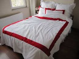 black and white striped bedding il fullxfull 444023074 kolu duvet cover with red border on top