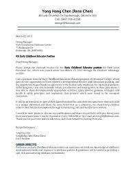 Job Application Cover Letter 2013 Cover Letter For Child Care Job Application Childcare Cover Letter