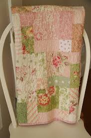Shabby Chic Quilt MADE TO ORDER made of Tanya Whelan fabrics in a ... & shabby chic 9 patch baby/toddler quilt by lullaby lucy, via Flickr Adamdwight.com