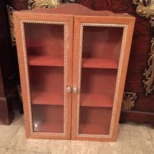 vintage wooden wall display cabinet