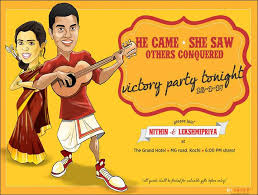 funny wedding invitation ideas 17 invites that'll leave the Malayalam Wedding Cards Matter conquest of love malayalam hindu wedding card matter