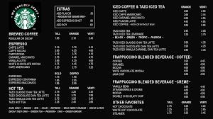 starbucks coffee menu. Unique Menu Starbucks Iced Coffee Menu PhilippinesPhilippines Tumbler  City  MugsStarbucks Coffee San Antonio Plaza Forbes Park Makati Intended Coffee Menu S
