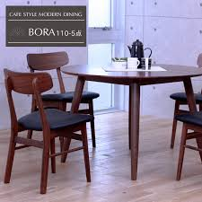 dining set 5 point round table solid dining table set 5pcs set nordic four seat walnut natural wood modern compact new life wood dining with fashionable