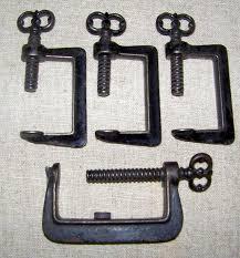 Old Quilting Frames | Antique Quilt Frame C Clamps Key Screw Heads ... & Old Quilting Frames | Antique Quilt Frame C Clamps Key Screw Heads Cast  Iron by bonblu Adamdwight.com