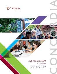 Undergraduate Calendar 2018-2019