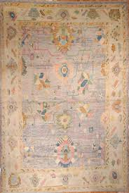 antique look large hand knotted old wool oushak rug