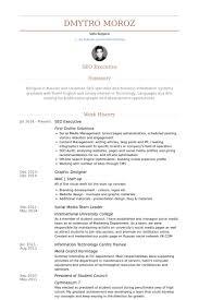 Seo Executive Resume samples