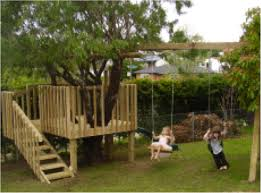kids tree houses with slides. Diy Tree House With Slide And Swings Kids Houses Slides