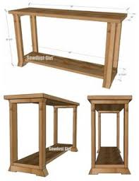 Rustic metal leg sofa table Cool Woodworking Projects Pinterest