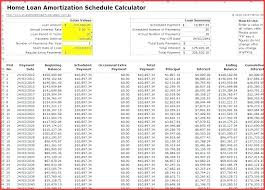 Loan Calculation Template Amortization Table Excel Template Loan Schedule With Extra