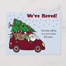 Announcement Postcards Christmas Moving Announcement Postcards Zazzle Com