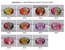 Tourmaline Color Chart Synthetic Watermelon Tourmaline Decorative Multi Color Glass Gemstone Buy Watermelon Tourmaline Glass Gemstone Multi Color Glass Gemstone Glass
