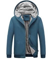 men s winter thicken fleece sherpa lined zipper hoo sweatshirt jacket blue cj185lwgdmi yeokou winter thicken sweatshirt x small