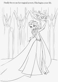 Elsa Frozen Coloring Pages Printable Elsa