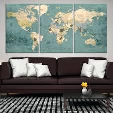 extra large wall art large wall art push pin world map canvas print extra large world extra large wall art