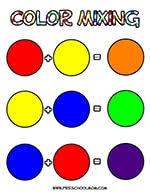 Basic Color Chart For Kids Color Preschool Printables Preschool Mom