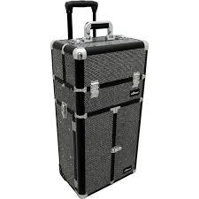 sunrise i3466 professional 2 in 1 rolling makeup artist cosmetic train case organizer storage