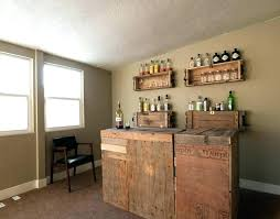wall mount bar ideas for home bars decorations astounding country style home bar ideas pallet wood bar table wall mount wooden wine shelves grey painted