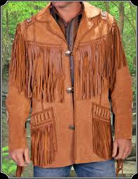 for a perfect buckskinner or cowboy fresh from the indian territories this fringed leather jacket is what you need to complete the look