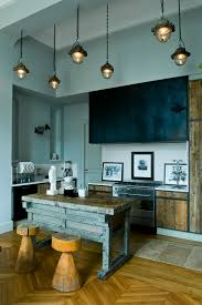 elegant dish drying rack in kitchen eclectic with wooden cabinets next to dish drying rack alongside distressed cabinets and blue gray walls