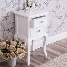 ornate bedroom furniture. White Bedside Table Shabby Vintage French Chic Ornate Hall Bedroom Furniture G