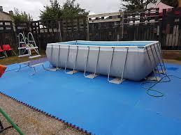 intex above ground pool rectangle. 10 Of 12 USED INTEX 4mx2mx1m RECTANGULAR ULTRA FRAME SWIMMING POOL Intex Above Ground Pool Rectangle T