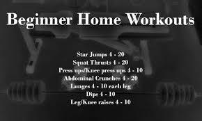 home workouts beginner