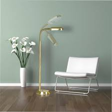 daylight floor lamp brass effect