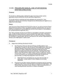 Police Manual Cincinnati Pd Oh 2003 Prison Legal News