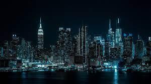 City, Cityscape, Night, City lights ...