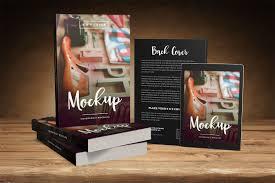 landscape paperback book mockup big 6 x 9 book promo mockup with tablet