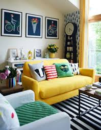 Yellow Decor For Living Room Raise The Personality By The Use Of 18 Purple And Yellow Living
