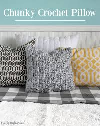 Crochet Pillow Patterns Classy Crochet Pillow Pattern Chunky Stairstep Stitch Tutorial