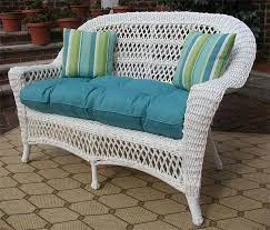 madrid resin wicker loveseat with cushion