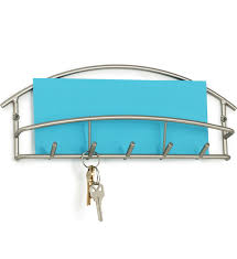 Euro Letter Holder And Key Rack Satin Nickel In Mail