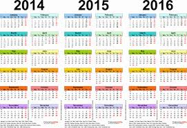 two year calender excel vacation tracker 2016 inspirational 2014 2015 calendar free