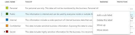 Delete Or Reorder An Azure Information Protection Label Aip
