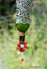 protea wine s art blossoms diy wine bottle hummingbird feeder my so called crafty life