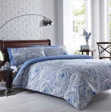blue paisley duvet cover king